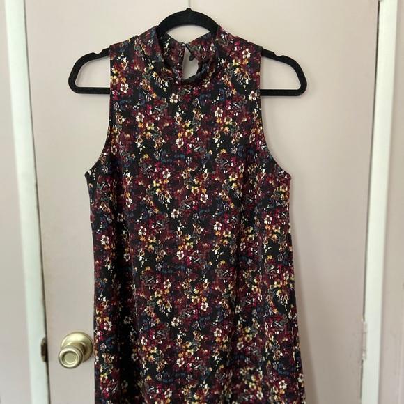 Lush Dresses & Skirts - Black Floral Mini Dress. NEVER WORN.